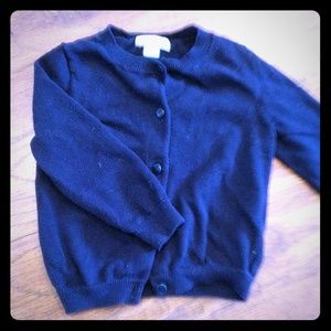 Crew cuts girls 2T button-up cardigan Navy